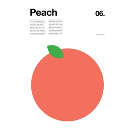 Nick Barclay - Print on Aludibond - Fruit Collection - 06 Peach