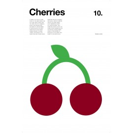 Nick Barclay - Print on Aludibond - Fruit Collection - 10 Cherries