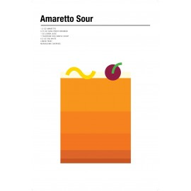 Nick Barclay - Print on Aludibond - Cocktail Collection - 01 Amaretto Sour