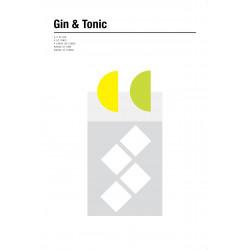Nick Barclay - Print on Aludibond - Cocktail Collection - 09 Gin & Tonic