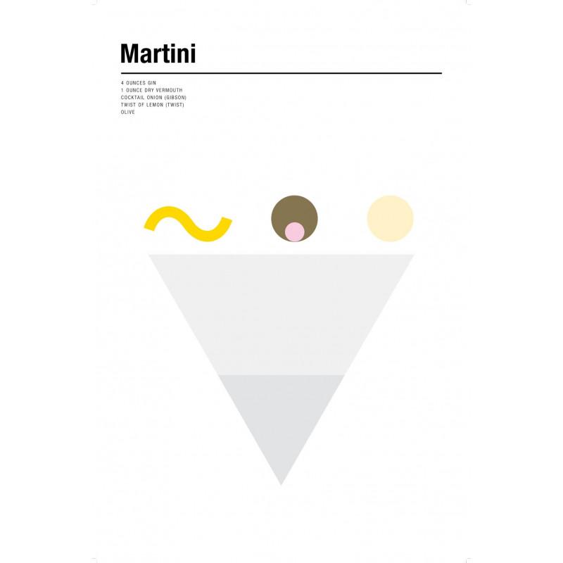 Nick Barclay - Print on Aludibond - Cocktail Collection - 12 Martini