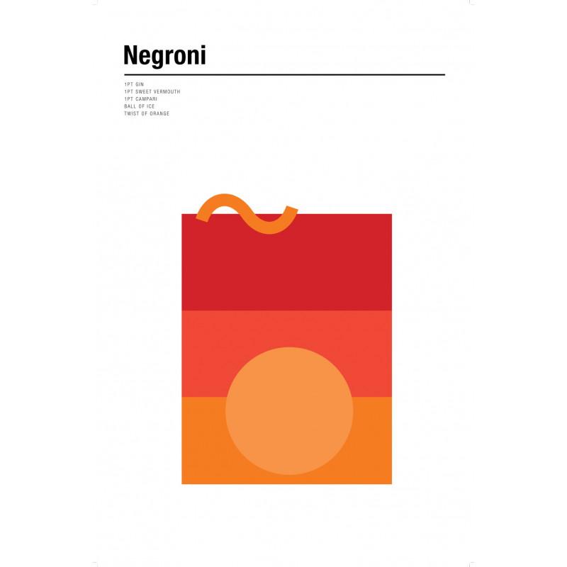 Nick Barclay - Print on Aludibond - Cocktail Collection - 14 Negroni