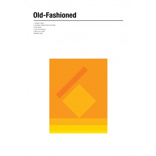 Nick Barclay - Print on Aludibond - Cocktail Collection - 15 Old Fashioned