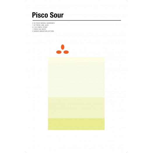 Nick Barclay - Print on Aludibond - Cocktail Collection - 16 Pisco Sour