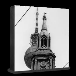 COGNOSCO Holzblock Berlin: Marienkirche vor Alex