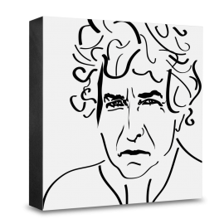 dg-selection Holzblock Bekannte Persönlichkeiten: Bob Dylan