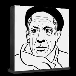 dg-selection Holzblock Bekannte Persönlichkeiten: Pablo Picasso