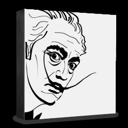 dg-selection Holzblock Bekannte Persönlichkeiten: Salvador Dali