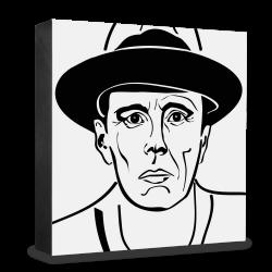 dg-selection Holzblock Bekannte Persönlichkeiten: Joseph Beuys