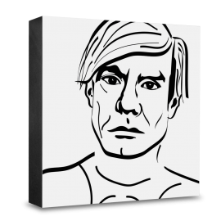 dg-selection Holzblock Bekannte Persönlichkeiten: Andy Warhol