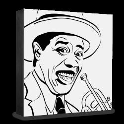 dg-selection Holzblock Bekannte Persönlichkeiten: Louis Armstrong