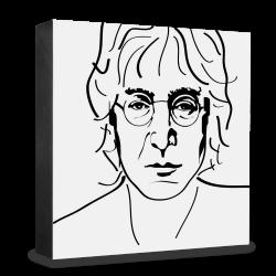 dg-selection Holzblock Bekannte Persönlichkeiten: John Lennon