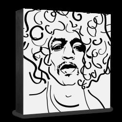 dg-selection Holzblock Bekannte Persönlichkeiten: Jimi Hendrix