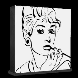dg-selection Holzblock Bekannte Persönlichkeiten: Audrey Hepburn