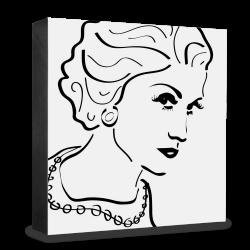 dg-selection Holzblock Bekannte Persönlichkeiten: Coco Chanel