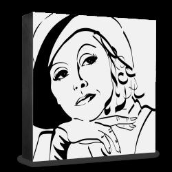 dg-selection Holzblock Bekannte Persönlichkeiten: Greta Garbo