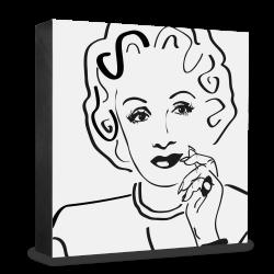 dg-selection Holzblock Bekannte Persönlichkeiten: Marlene Dietrich