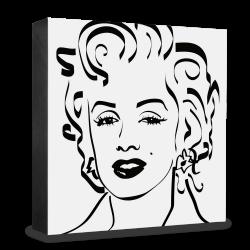 dg-selection Holzblock Bekannte Persönlichkeiten: Marylin Monroe