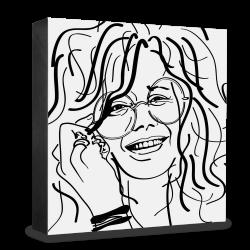 dg-selection Holzblock Bekannte Persönlichkeiten: Janis Joplin