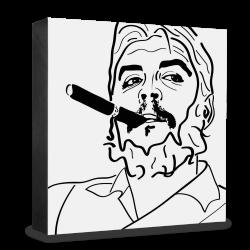 dg-selection Holzblock Bekannte Persönlichkeiten: Ché Guevara