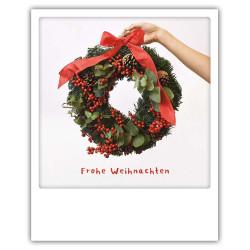 Pickmotion Christmas Cards - Weihnachten Postkarte: Adventskranz