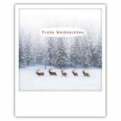 Pickmotion Christmas Cards - Weihnachten Postkarte: Frohe Weihnachten - Hirsche