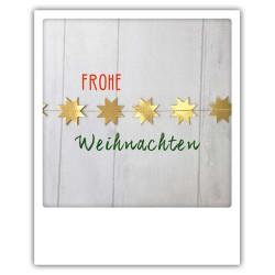 Pickmotion Christmas Cards - Weihnachten Postkarte: Frohe Weihnachten - Sterne