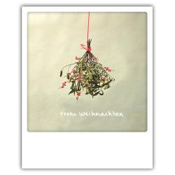 Pickmotion Christmas Cards - Weihnachten Postkarte: Frohe Weihnachten - Mispelstrauch