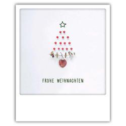 Pickmotion Christmas Cards - Weihnachten Postkarte: Frohe Weihnachten - Bäumchen