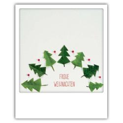 Pickmotion Christmas Cards - Weihnachten Postkarte: Frohe Weihnachten - Weihnachtsbäumchen