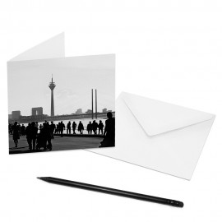 designersgroup - COGNOSCO Klappkarte Düsseldorf - Rheinuferpromenade