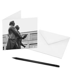 designersgroup - COGNOSCO Klappkarte Weimar - Goethe und Schiller