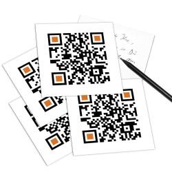 designersgroup - QRCP Postkarte QR-Code: CHEER UP! (Lass den Kopf nicht hängen!)