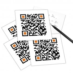 designersgroup - QRCP Postkarte QR-Code: MERRY CHRISTMAS. (Frohe Weihnachten)