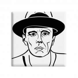 designersgroup - dg-selection Magnet - Künstler -  5 x 5 cm - Joseph Beuys