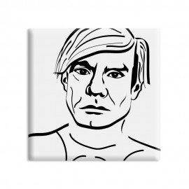 designersgroup - dg-selection Magnet - Künstler -  5 x 5 cm - Andy Warhol