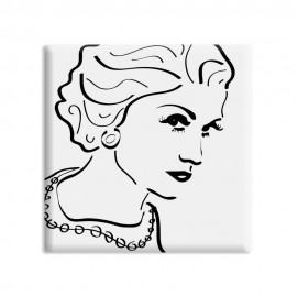 designersgroup - dg-selection Magnet - Diven - 5 x 5 cm - Coco Chanel
