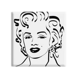 designersgroup - dg-selection Magnet - Diven - 5 x 5 cm - Marylin Monroe