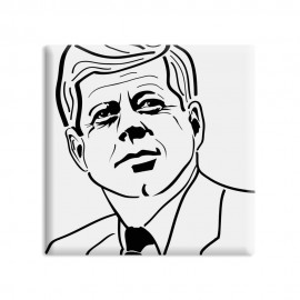 designersgroup - dg-selection Magnet - Politiker -  5 x 5 cm - John F. Kennedy