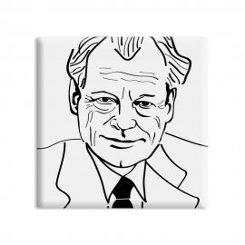 designersgroup - dg-selection Magnet - Politiker - 5 x 5 cm - Willy Brandt