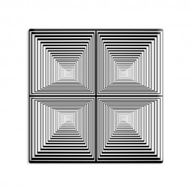 designersgroup - dg-selection Magnet Op-Art - Quadrat 1c