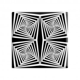 designersgroup - dg-selection Magnet Op-Art - Quadrat 5c