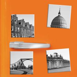 designersgroup - COGNOSCO - Set mit 4 Kühlschrank-Magneten - Potsdam - 5x5cm - Sanssouci Holländisches Viertel Glienicker Brücke