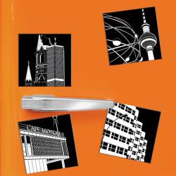 designersgroup - COGNOSCO - Set mit 4 Kühlschrank-Magneten - Stadtgrafiken Berlin - Set aus 4 Magneten