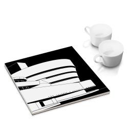 designersgroup - COGNOSCO Untersetzer: NY, Guggenheim-Museum