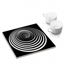 designersgroup - dg-selection Untersetzer: Kreis 8b, Op-Art