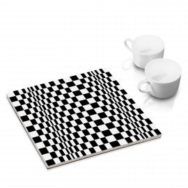 designersgroup - dg-selection Untersetzer: Quadrat 8a, Op-Art