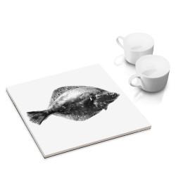 designersgroup - dg-selection Untersetzer - mit Fisch-Motiv: Scholle