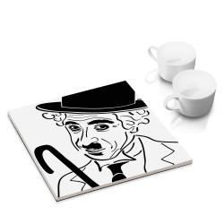 designersgroup - dg-selection Untersetzer - bekannte Komiker: Charlie Chaplin