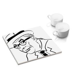 designersgroup - dg-selection Untersetzer - bekannte Komiker: Heinz Erhardt